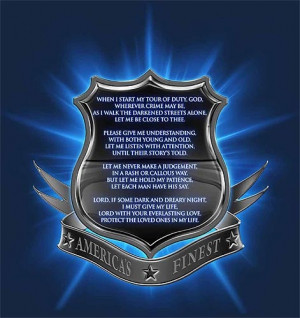 Police Officer's Prayer Thin Blue Line T-Shirt