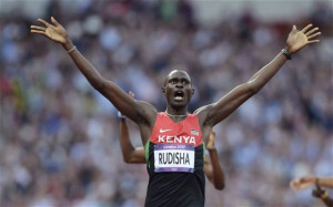 ... times ever at this event and he's a young Kenyan called David Rudisha