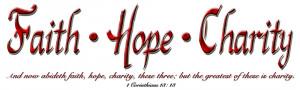 Faith Hope Charity Clipart