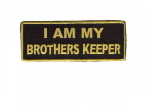 AM MY BROTHER'S KEEPER GOLD Embroidered Biker MC ClubVest Patch NEW ...