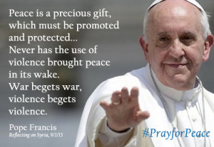 pope francis syria