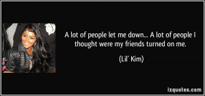 friends that let you down quotes