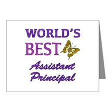 World's Best Assistant Principal (Butterfly) Note for