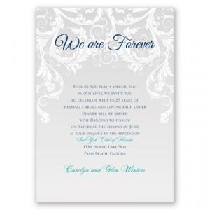 christian wedding vow renewal invitations