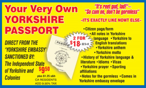 Order your Yorkshire Passport here