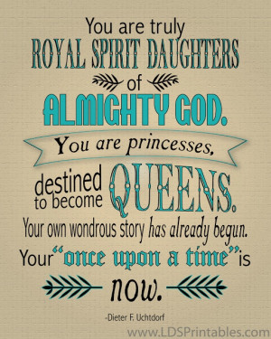 LDS Printables: Destinadas a Ser Reinas / Destined to Become Queens