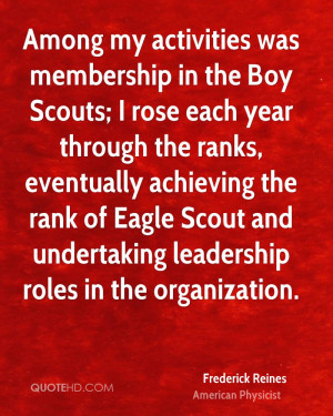... of Eagle Scout and undertaking leadership roles in the organization