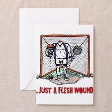 Lacrosse Goalie Fleshwound Greeting Card for