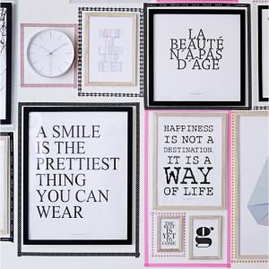 Maison > Affiches et cadres > Cadre en bois Happiness