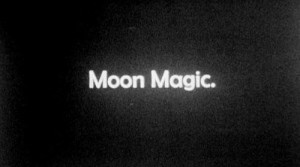 black and white, magic, moon