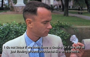 Movie forrest gump quotes and sayings destiny people life