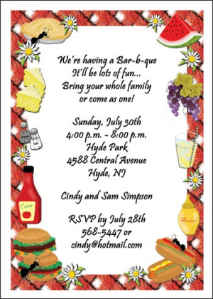 ... funny pig cookout bbq party invitation cute picnic summer funny