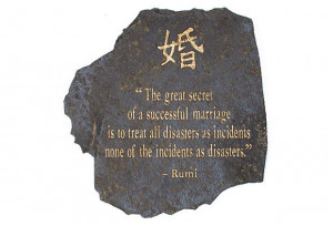 Quote by Rumi Engraved on Volcanic Slate on OneKingsLane.com