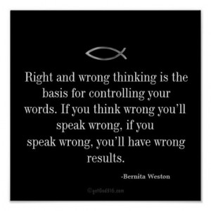 Right and wrong thinking Inspirational Quotes Keys for Discipline ...