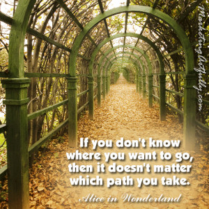... Want to go,then it doesn't matter which path you take ~ Goal Quote