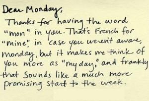 Monday with a positive attitude!