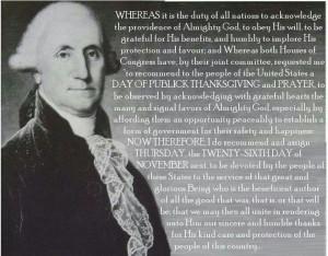 George Washington's Thanksgiving Proclamation of 1789