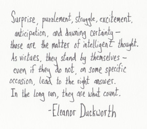 The Graphic Recorder - Handwritten Quotes - Eleanor Duckworth - The ...