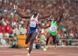 Carl Lewis won nine Olympic gold medals.