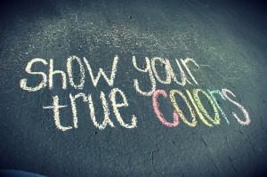 Show your #true #colors.
