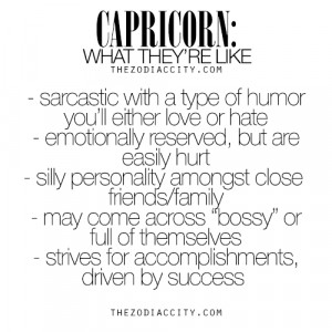 Capricorn: What They're Like. For much more on the zodiac signs ...