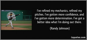 ve refined my mechanics, refined my pitches. I've gotten more ...