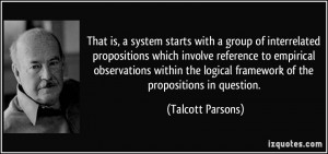 with a group of interrelated propositions which involve reference ...