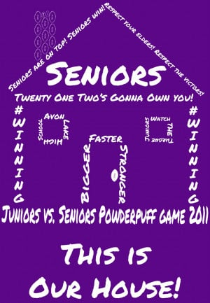 ... quite pleased with the design i made the juniors vs seniors powderpuff