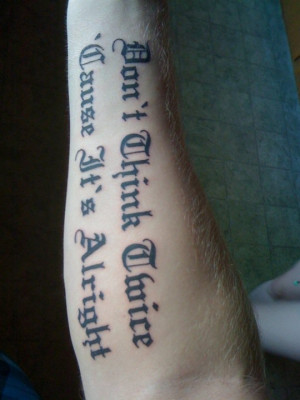 bob dylan tattoo by peteycrack d36bui7 Bob Dylan Tattoo Quotes