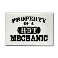 Property of a Hot Mechanic Rectangle Magnet for