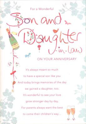 Image for Son and Daughter-in-Law Anniversary Anniversary Card
