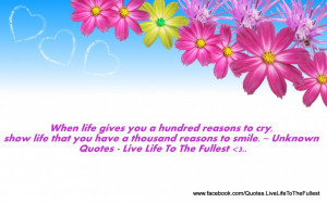 Uplifting Quotes About Life And Happiness Uplifting Flowers And Quote