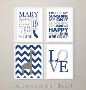 newborn birth announcement with baby quotes, wall art baby names and ...