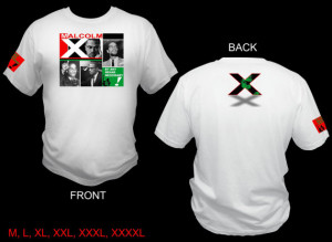 MALCOLM X Graphic White Tee T-Shirt Black History Quality ISLAM Red ...