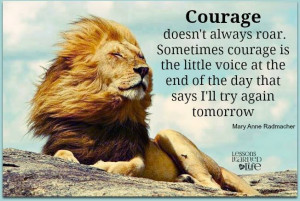 quotes, courage and lion