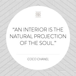 "An interior is the natural projection of the soul."" – Coco Chanel ..."