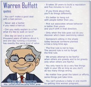 Nice Quotes to start your Day ! ( Warren Buffett quotes)