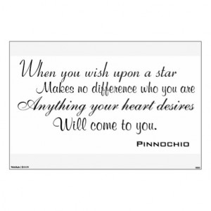 When You Wish Upon A Star Quote When you wish upon a star wall