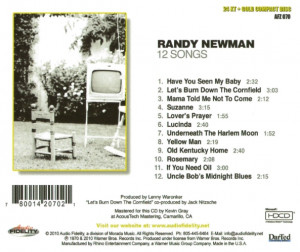 Randy Newman's 1970 masterpiece in an audiophile gold CD version ...