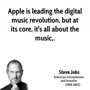Apple is leading the digital music revolution, but at its core, it's ...