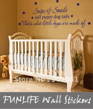 ... Wall-Sticker-Wall-Decal-Quote-Kids-Nursery-Boys-Room-Decal-Decor-Snips