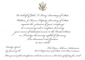"""An Invitation to the State Department, and Defining """"Dedicated ..."""