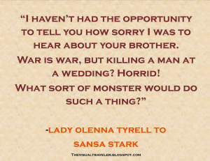 Lady Olenna Tyrell Quote Game of Thrones The Lion and the Rose