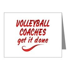 Volleyball Coaches Note Cards (Pk of 20) for