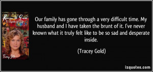 Family Hard Times Quotes