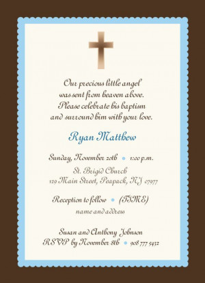 Baby Boy Baptism Invitation wording: Baby Boys Invitations, Boys Or ...