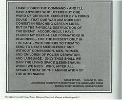 Adolf Hitler's statement on planned attack on Poland and genocide of ...