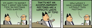 Dilbert Meetings a Waste of Time