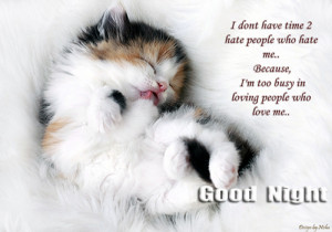 ... Because I'm too Busy In Loving People Who Love Me ~ Good Night Quote