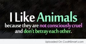 More like LOVE animals...